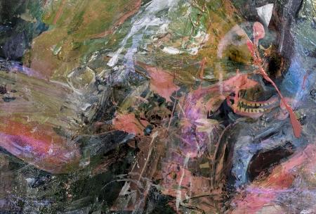 figurative: Interesting Figurative Original Oil Painting on Canvas