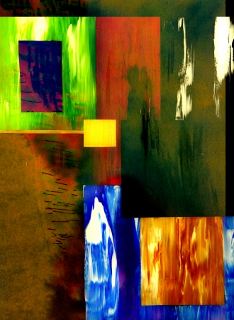 color block: Very Nice Color Block image on Glass