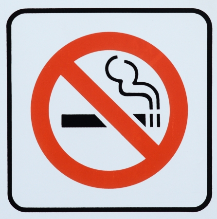 non: Photograph of a Non Smoking area sign Stock Photo