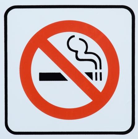 non: Photograph of a Non Smoking area sign Stock Photo