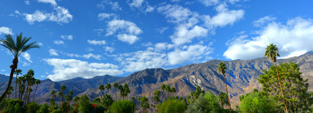 Nice panorama of Palm springs, California USA in springtime Stock Photo