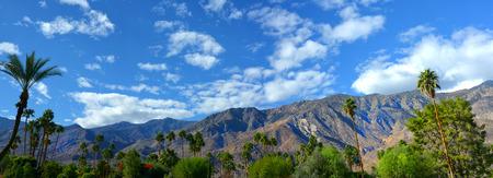 springs: Nice panorama of Palm springs, California USA in springtime Stock Photo
