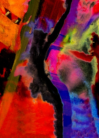 artist painting: Nice Image of a large scale Abstract Painting in watercolor on paper