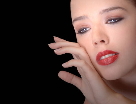 glamour model: Beautiful Image of Glamour model on Black
