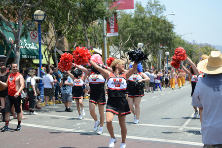 west hollywood: West Hollywood,California June 8th 2014  Annual Gay pride parade with over 450,000 spectators on the streets since 1970