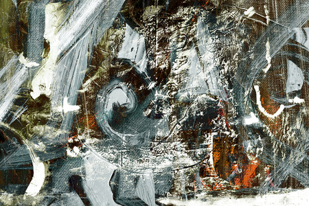 Nice large Scale Abstract oil painting on Canvas Stockfoto