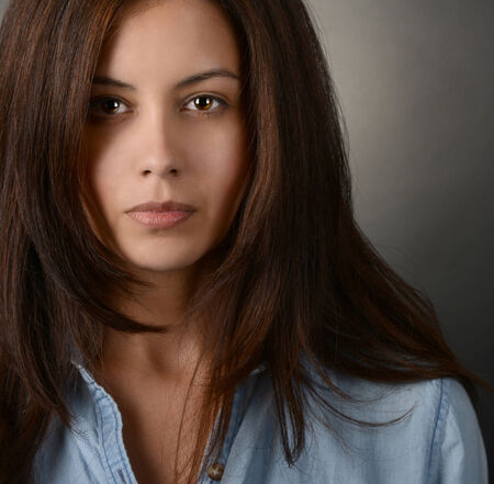 brown: Very Nice portrait of a Latino Actress in studio