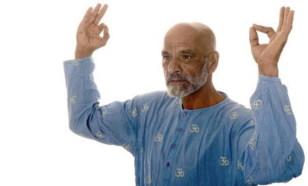 Nice Happy Healthy Image of a Yoga master photo