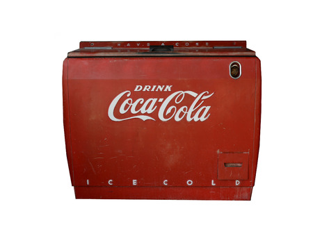 Oct 3rd 2014 New mexico , Image of a vintage Coca Cola machine found in a Junk Yard along route 25 central New Mexico