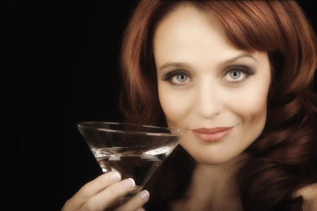 Nice Image of a Woman with a martini photo