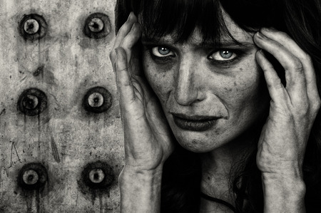 Striking Image of a Drug addicted woman