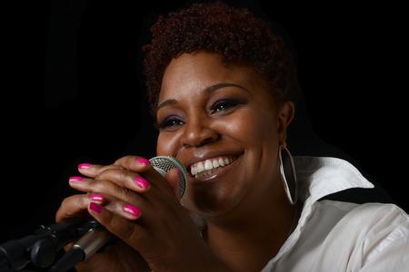 jazz singer: Beautiful Image of a afro american Jazz singer