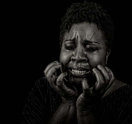 grieving: Very strong Emotional Image of a suffering Woman