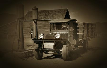 ghost town: 1927 Vintage truck in Bodie Ghost Town