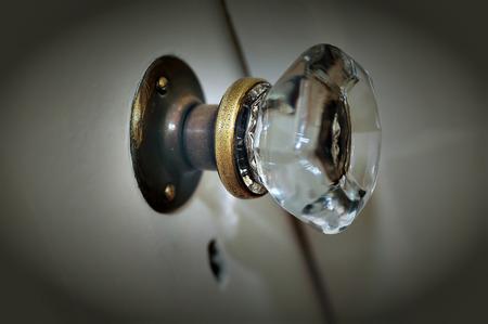 door knob: 1920s brass door knob with a vintage feel Stock Photo
