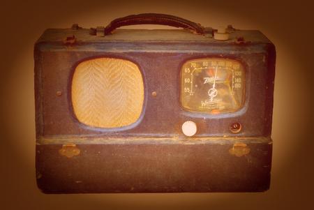 junk yard: Oct 2 2014 New Mexico: Vintage Zenith Portable radio Found in a Junk Yard Editorial