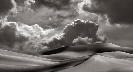 Beautiful Image of The Imperial Sand dunes California with a storm coming Archivio Fotografico