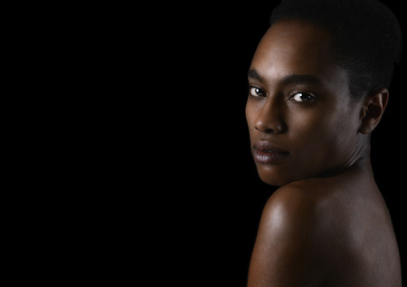 glamour model: Beautiful Image Of a Thin Afro American Glamour Model