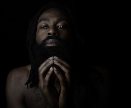 african worship: Nice Image of a Very Spiritual man Stock Photo