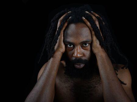 afro arab: Nice Image of a Very Spiritual Afro American man Stock Photo