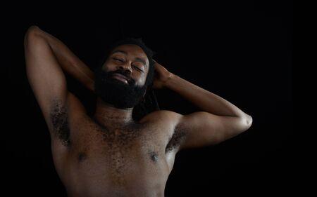 black man: Nice Image Of a afro American man relaxing