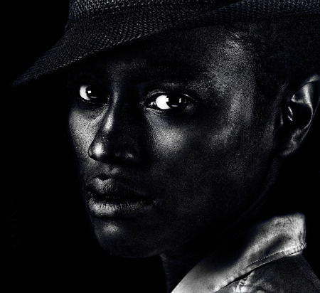 beauty eyes: Nice Image of a Beautiful Afro Americam Woman Jazz Musician