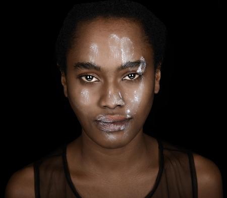racismo: Fuerte Imagen que representa el racismo en Estados Unidos Foto de archivo