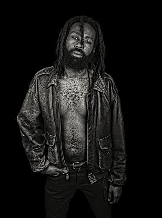 tough guy: Striking Image of a Afro American Tough Guy