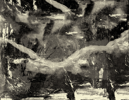 creative artist: Very Large scale abstract Original Oil on Paper
