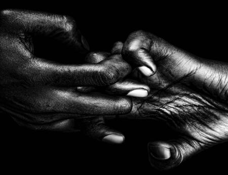 wrinkled: Beautiful Graphic Image of a womans hands