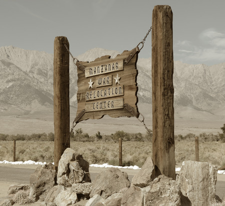 owens valley: Very Nice But Sad Image of the sign at Manzanar Internment camp.