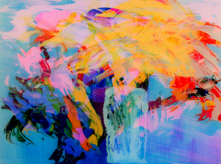 creative artist: Nice Image of a Abstract painting On Glass Stock Photo