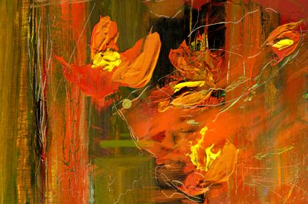 非常にニースの大規模な抽象絵画、キャンバス上の油