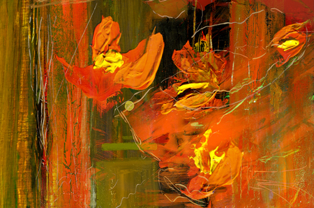 Zeer mooie grote schaal abstracte schilderen, olieverf op doek Stockfoto
