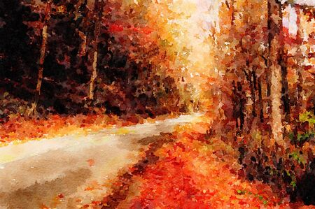 watercolor painting: Very Nice original Watercolor painting Of a Kentucky Road