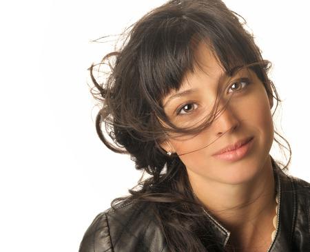 Beautiful Image of a Brazilian woman On white photo