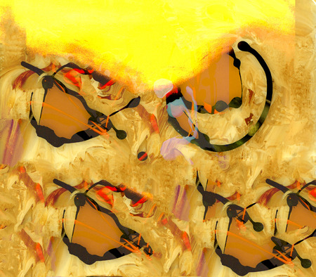 figurative: Interesting Figurative Image of Abstract On Glass In Verso