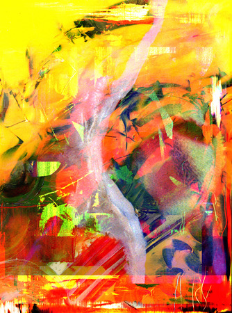canvas painting: Nice Large scale Abstract Oil Painting On Canvas Stock Photo