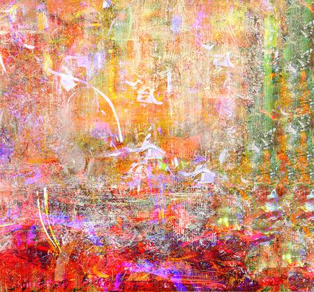 pintura abstracta: Se trata de una pintura al óleo original técnica mixta sobre lienzo Foto de archivo