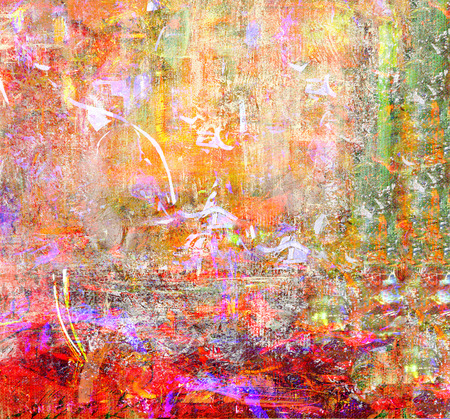 canvas painting: This Is an Original Oil painting Mixed media on Canvas Stock Photo