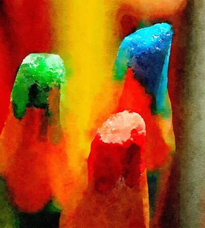 primary colors: Nice watercolor Painting of the primary colors