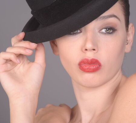 Nice Image of a young Glamour woman with Hat photo
