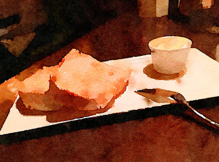 Nice Painting Of a Simple subject of bread and Butter