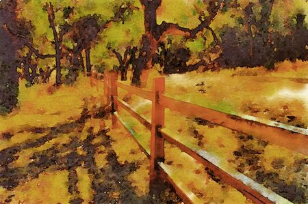 wine country: Nice watercolor of the carmel Valley wine country
