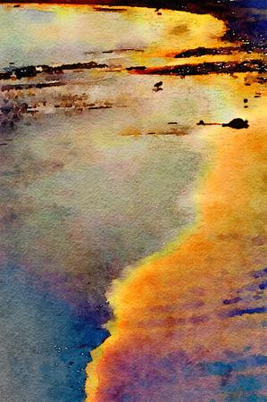 shoreline: Nice abstract Of the monterrey Shoreline Stock Photo