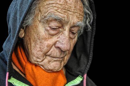 Nice portrait Image of a sad senior man photo