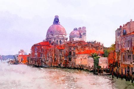maria: Painting of Basilica Santa Maria Della