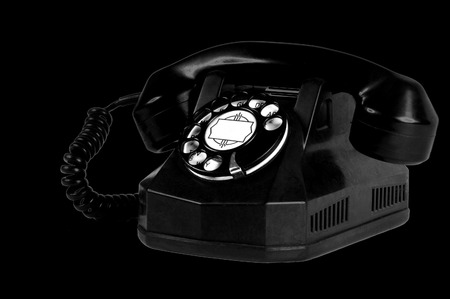 antique telephone: Mice Image of a Antique Telephone Stock Photo