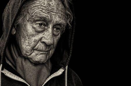 Nice emotional Portrait Image Of a sad senior Man photo