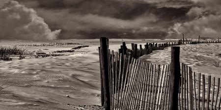 tropica: Nice Black and White Image of the coast of Pensacola Florida Stock Photo